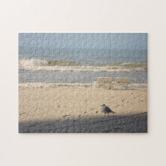 Ocean Beach Nature Photography Art Puzzle Seagull