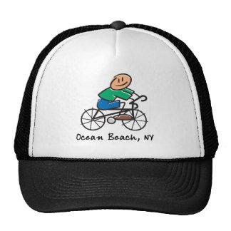 Ocean Beach NY Mesh Hats