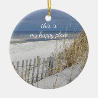 Ocean Beach on Cape Cod Christmas Ornament