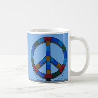 Ocean Beach Peace Sign Coffee Mug