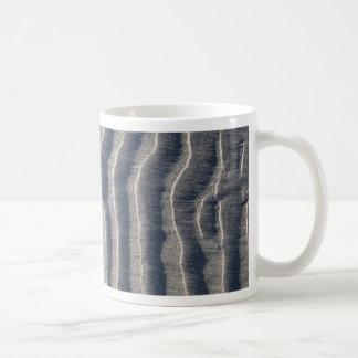 Ocean Beach Ripples Basic White Mug