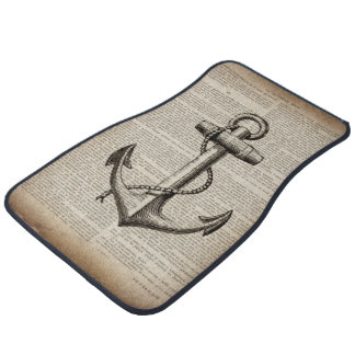 ocean beach  sailor vintage nautical anchor car mat