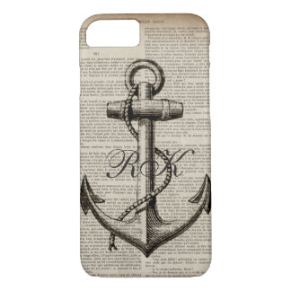 ocean beach  sailor vintage nautical anchor iPhone 8/7 case