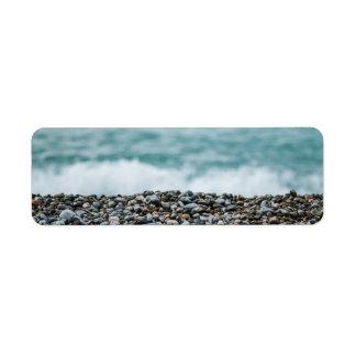 ocean beach sea craft modern return address label