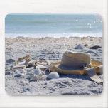 Ocean, beach, sea shells mouse pad