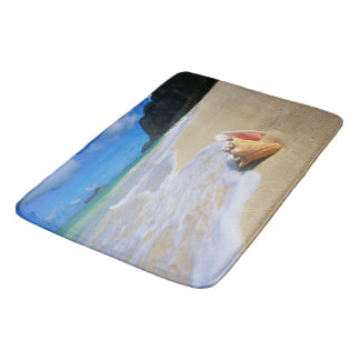 Ocean Beach Seashell Bathroom Rug Mat Home Decor