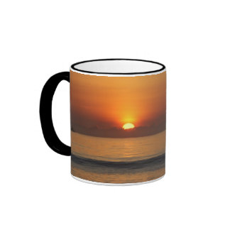 Ocean beach sunrise color photo coffee mug