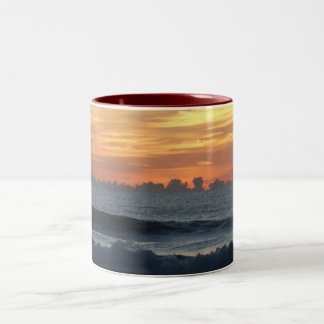 Ocean beach sunrise color photo coffee mug