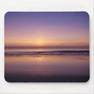 Ocean beach sunrise color photo mousepad