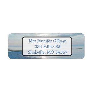 Ocean Beach Sunset Return address Label