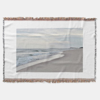 Ocean beach throw blanket