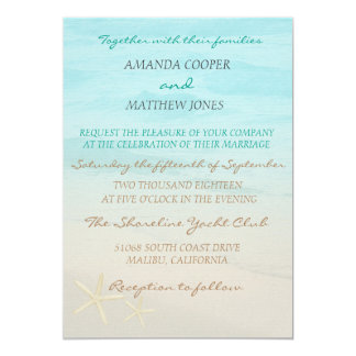 Ocean Beach Wedding Invitation