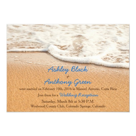 Ocean Beach Wedding Reception Only Card