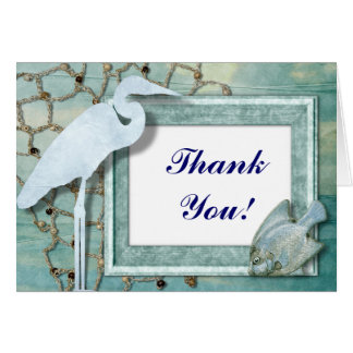 Ocean Beach wedding Thank You notecards Stationery Note Card