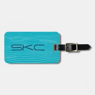 ocean bed - luggage tag