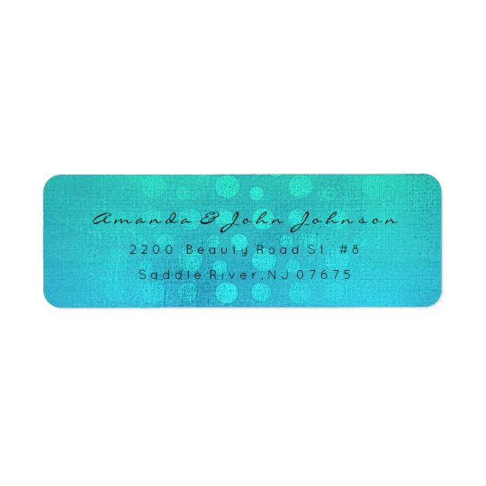 Ocean Blue Caribbean  Beach Dots Return Address Return Address Label
