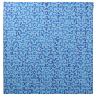 Ocean Blue Deep Sea Elegant Damask Napkin