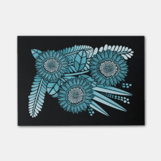 Ocean Blue Gerbera Daisy Flower Bouquet Post-it Notes