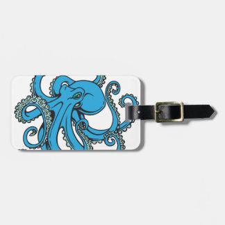 Ocean Blue Octopus Luggage Tag