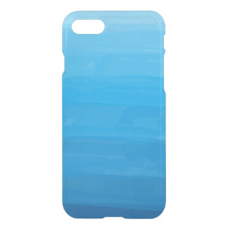 Ocean Blue Ombre Clear iPhone Case