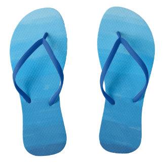 Ocean Blue Ombre Flip Flops
