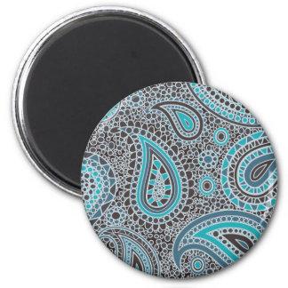 Ocean Blue paisley Magnet