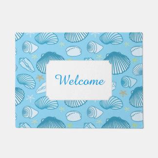 Ocean Blue Pattern | Add Your Text Doormat