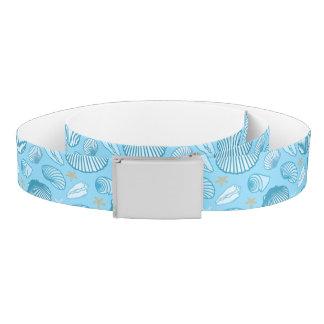 Ocean Blue Pattern Belt