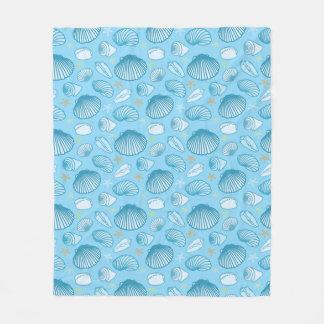 Ocean Blue Pattern Fleece Blanket