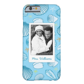 Ocean Blue Pattern | Your Photo & Name Barely There iPhone 6 Case