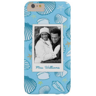 Ocean Blue Pattern | Your Photo & Name Barely There iPhone 6 Plus Case