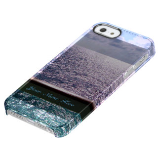 Ocean Blue Personalized Uncommon Clearly™ Deflector iPhone 5 Case