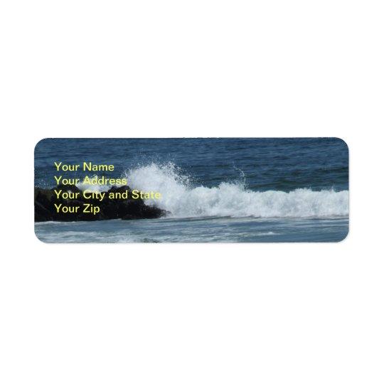 Ocean Blue  Return Address Label