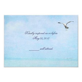 Ocean  Blue RSVP 9 Cm X 13 Cm Invitation Card