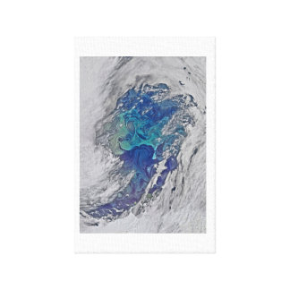 OCEAN BLUE SHADES ABSTRACT ART CANVAS PRINT