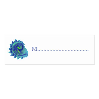 Ocean Blue Spiral Reception Table Seating Cards Pack Of Skinny Business Cards