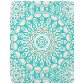 Ocean Blue Turquoise Medallion iPad Cover