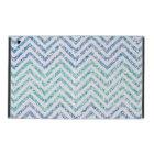 Ocean Blue Variegated Chevron Striped Glitter Look iPad Case