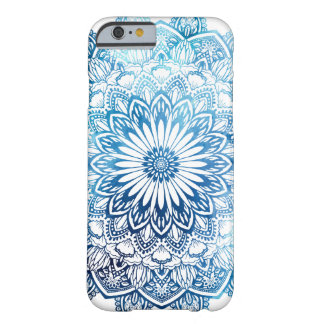 Ocean Blue Watercolor Mandala Barely There iPhone 6 Case