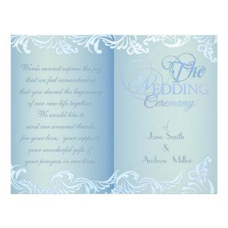 ocean blue wedding programs full color flyer