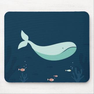 Ocean Blue Whale Mouse Pad