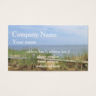 Ocean bluff business card