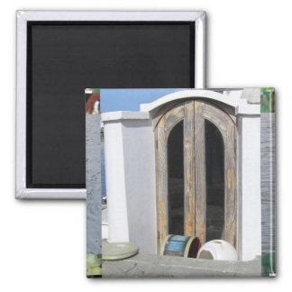 Ocean Boat Doors Square Magnet