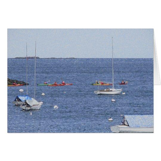 Ocean boats Card