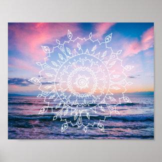 Ocean Boho Mandala | Poster