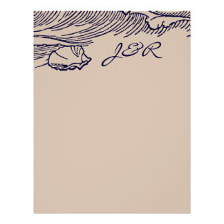 Ocean Breeze | Rustic Beach DIY Envelopes Liner 21.5 Cm X 28 Cm Flyer