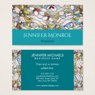 Ocean Breeze Stained Glass Hairstylist Business Card