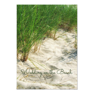 Ocean, Casual Beach Grass Sand & Sea 13 Cm X 18 Cm Invitation Card