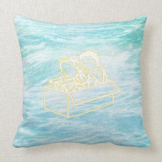 Ocean Chalkboard Kids in Box Doodles Cushion