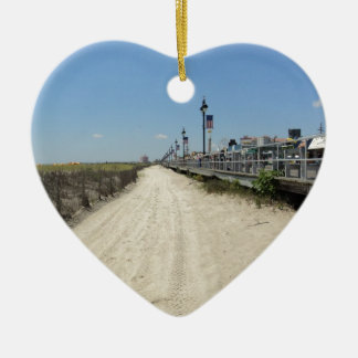 Ocean city Boardwalk Christmas Ornament